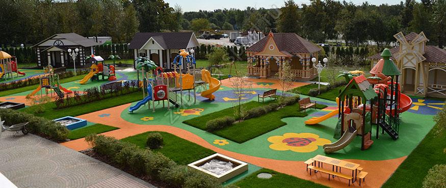 Красивая детская площадка фото